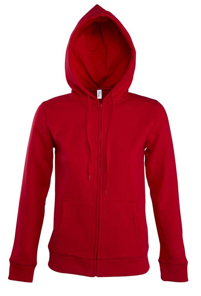 Толстовка женская на молнии с капюшоном Seven Women, красная, размер S