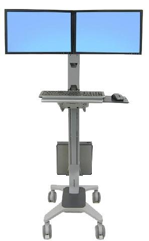 Мобильное рабочее место под два монитора Ergotron Neo-Flex (24-194-055) мобильная стойка ergotron neo flex mobile mediacenter vhd 24 191 085