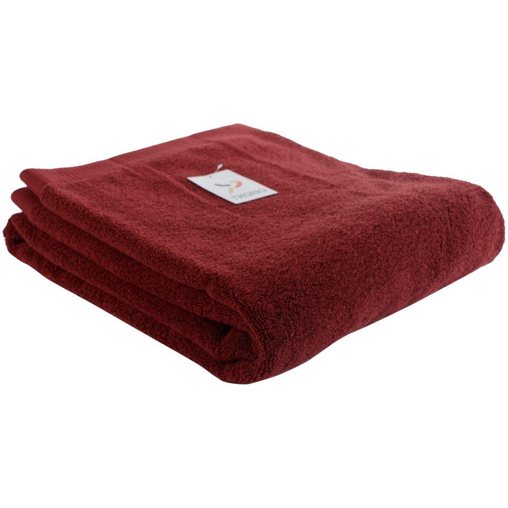 Полотенце Essential, большое, бордовое