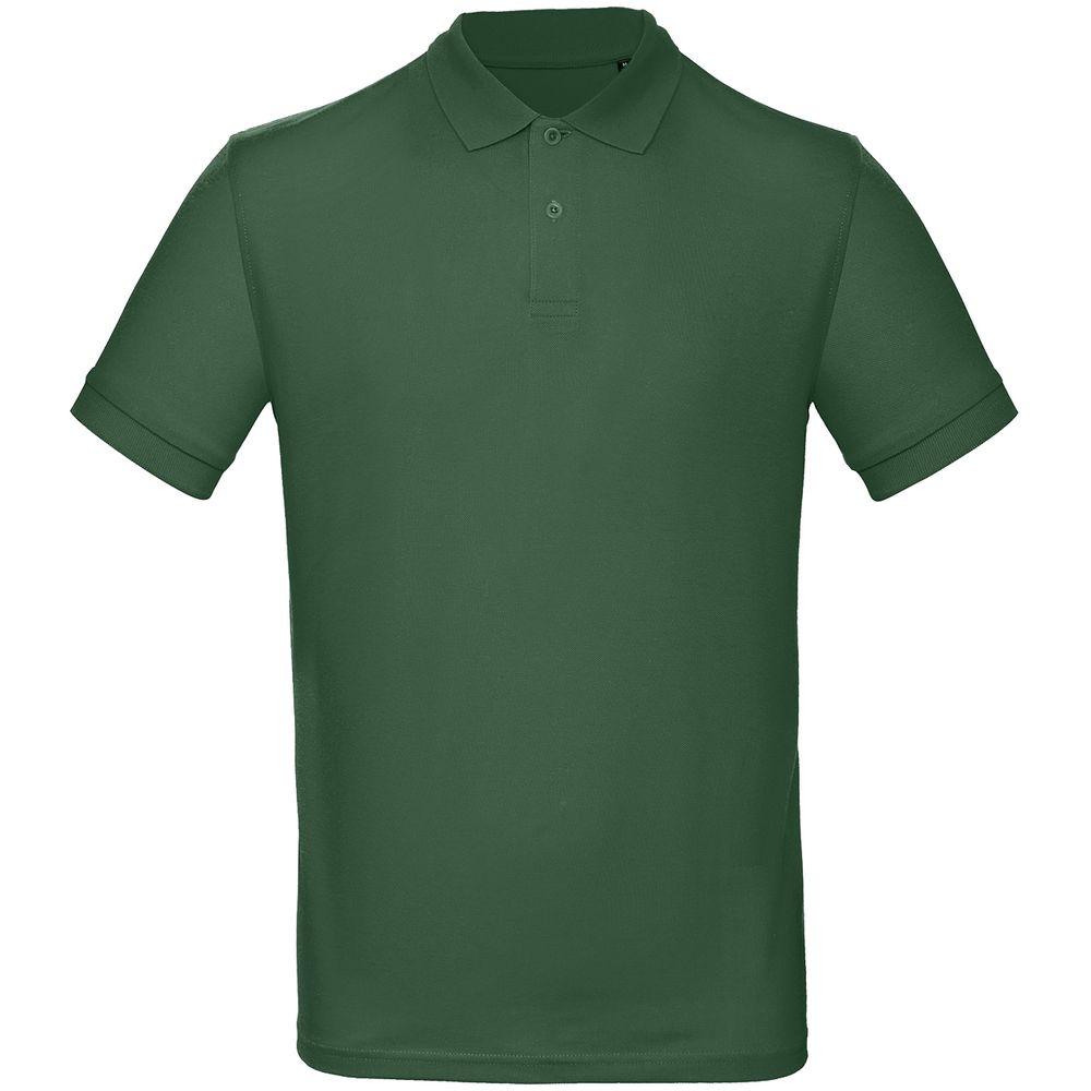 Рубашка поло мужская Inspire темно-зеленая, размер XXXL