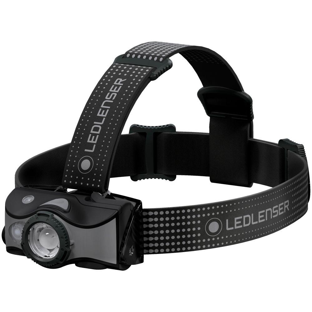 Аккумуляторный налобный фонарь MH7, черный с серым