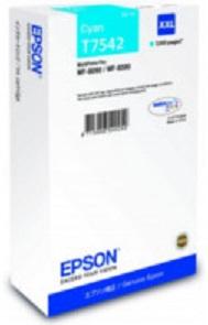 Картридж экстраповышенной емкости с голубыми чернилами T7542 для WF-8090, 8590 (C13T754240)