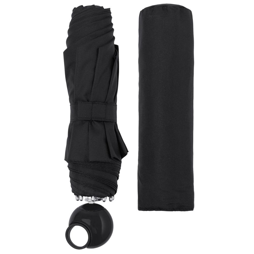 Зонт складной Floyd с кольцом, черный зонт складной zemsa zemsa mp002xw13drd