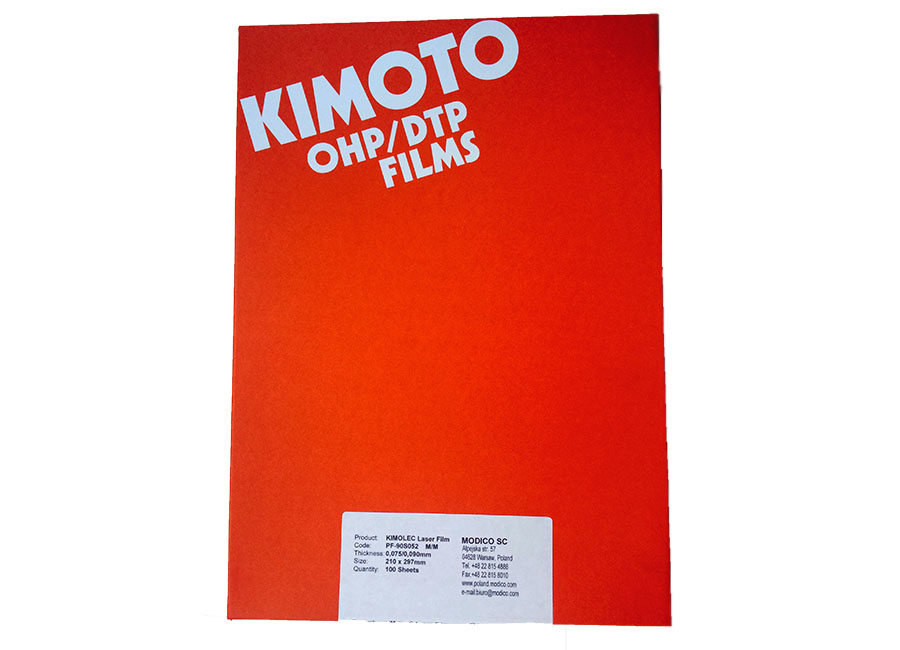 Фото - Пленка A4 Kimolec WM PF-90S 100 листов, матовая printhead pf 06