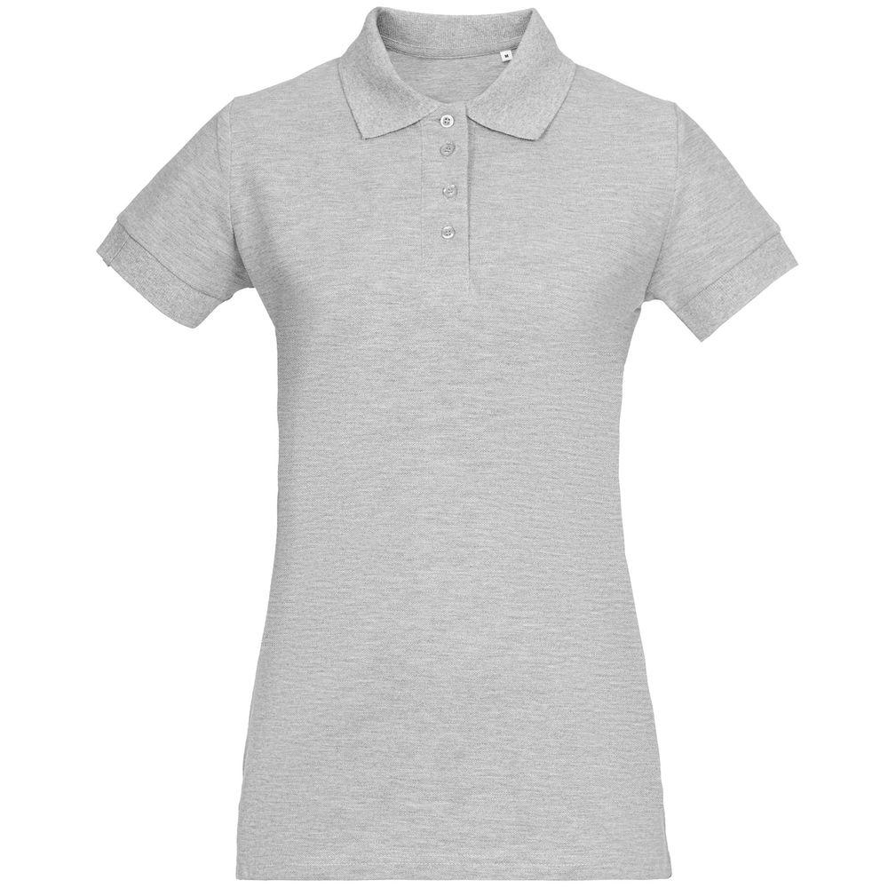 Фото - Рубашка поло женская Virma Premium Lady, серый меланж, размер XL рубашка поло женская virma lady белая размер xl