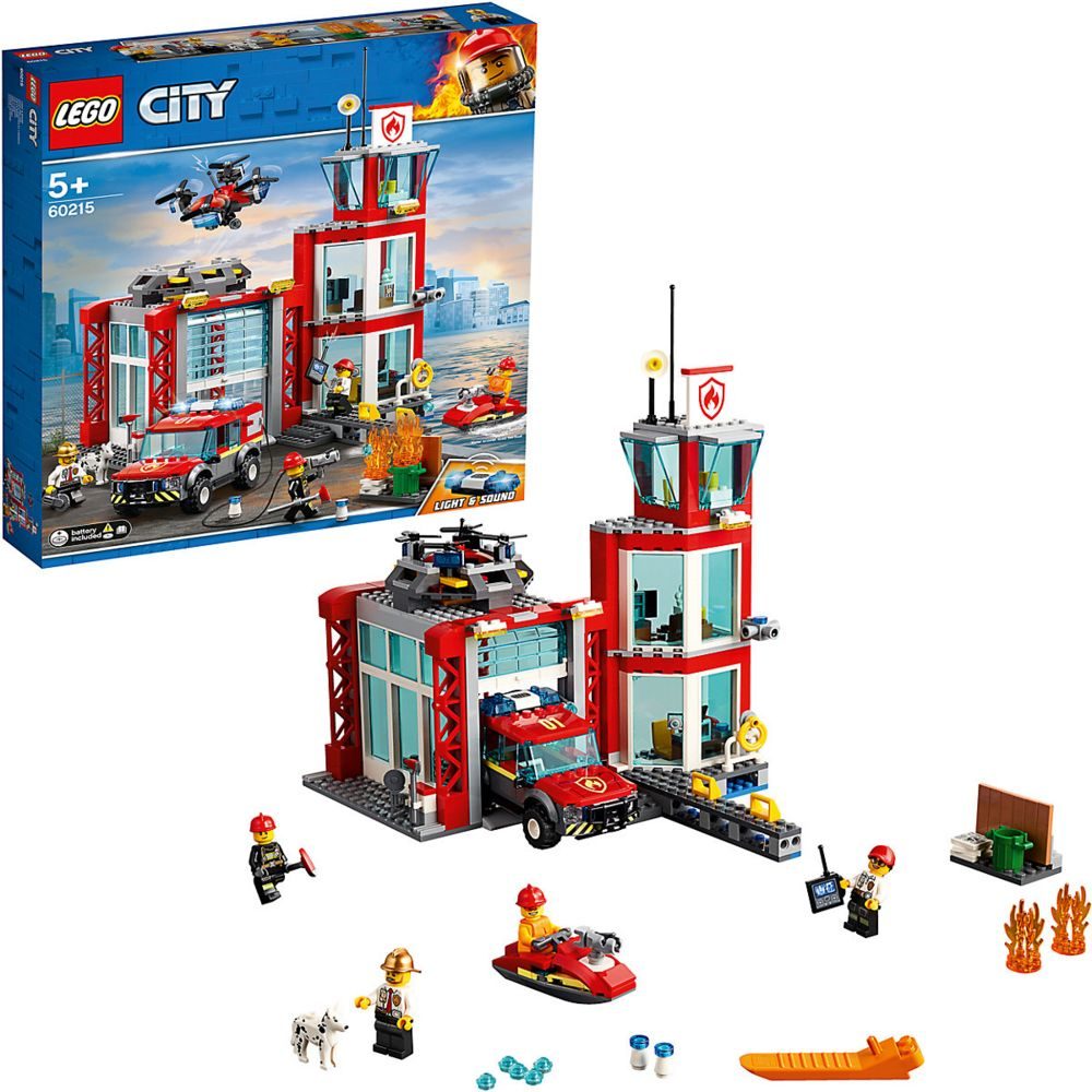 Конструктор «LEGO City. Пожарное депо» конструктор city lego lego mp002xb00c9t