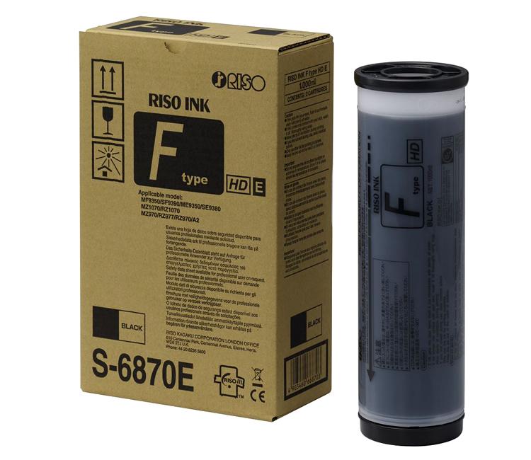 Фото - Краска черная RISO Ink F TYPE HD Black (S-6870E), 1000 мл ej ink black 1000 мл ej bk