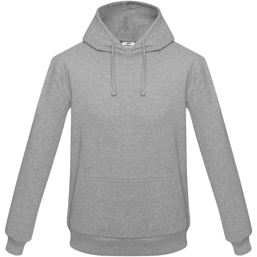 цена Толстовка с капюшоном Unit Kirenga серый меланж, размер 4XL онлайн в 2017 году
