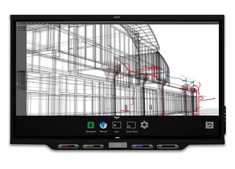 Board SBID-7286P (в составе интерактивной панели SPNL-7086P и встраиваемого компьютера) с технологией iQ ключом активации Meeting Pro