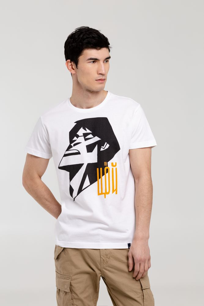 Футболка «Меламед. Виктор Цой», белая, размер S