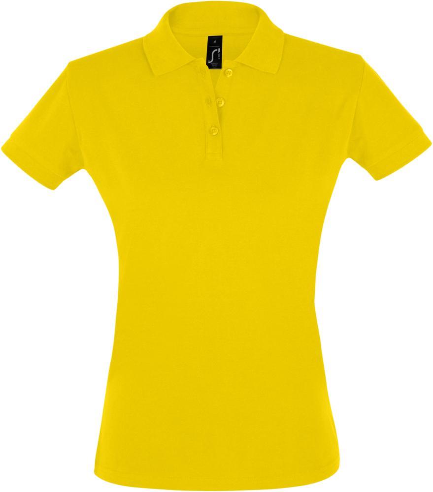 Рубашка поло женская PERFECT WOMEN 180 желтая, размер S рубашка поло женская perfect women 180 серый меланж размер s