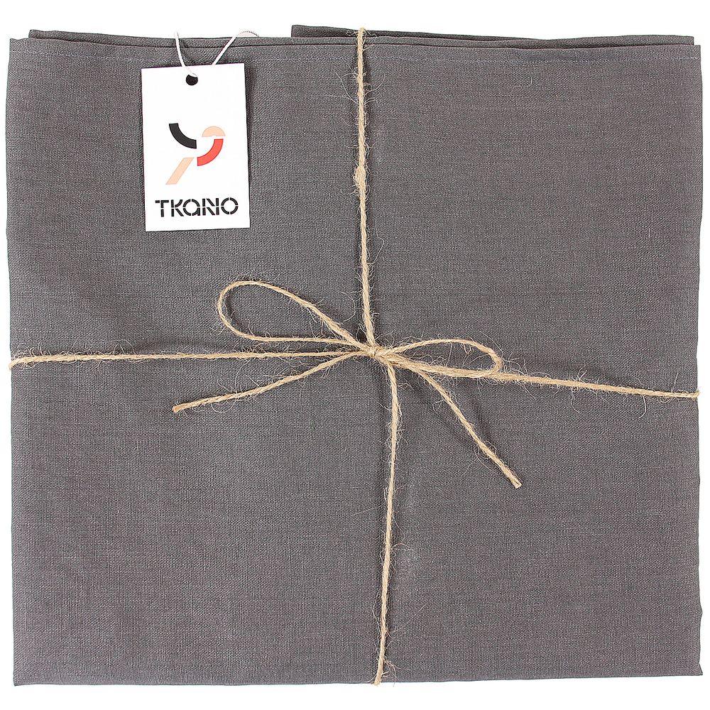 Скатерть Essential с пропиткой, прямоугольная, темно-серая фото