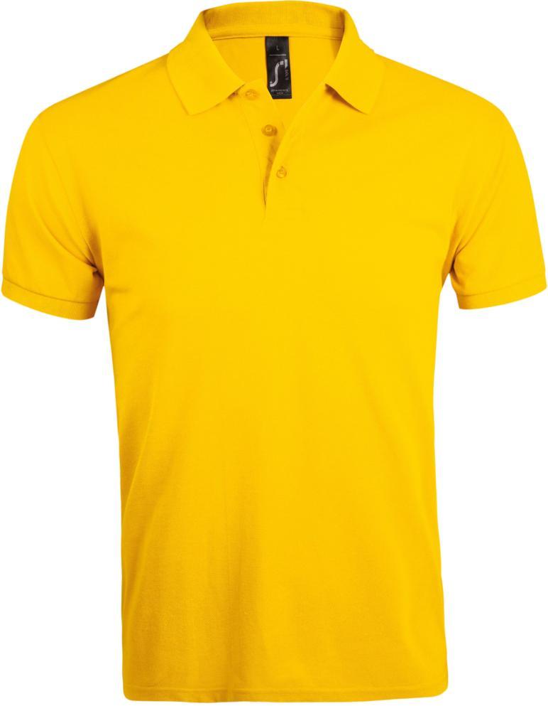 Рубашка поло мужская PRIME MEN 200 желтая, размер 4XL