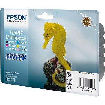 Набор цветных картриджей T0487 для R200, R300 (C13T04874010) epson t0487 multipack c13t04874010 картридж для stylus photo r200 r300
