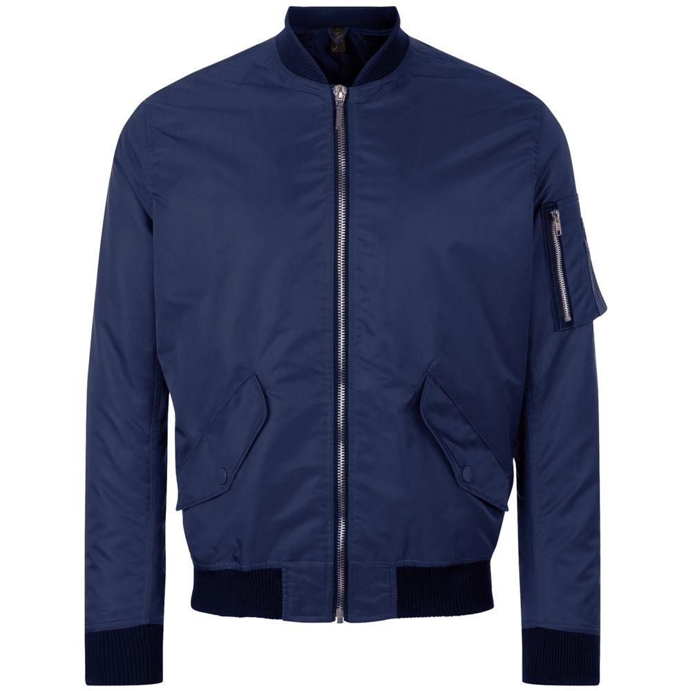 Куртка бомбер унисекс REBEL темно-синяя, размер L куртка бомбер унисекс rebel черная размер xl