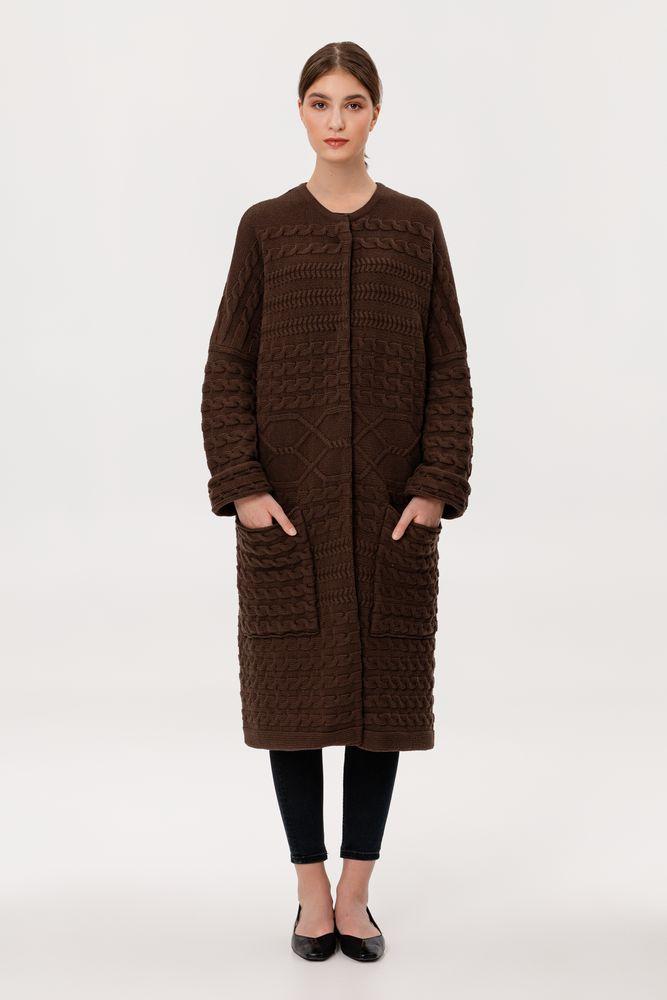 Кардиган женский Warmheart, коричневый, размер L