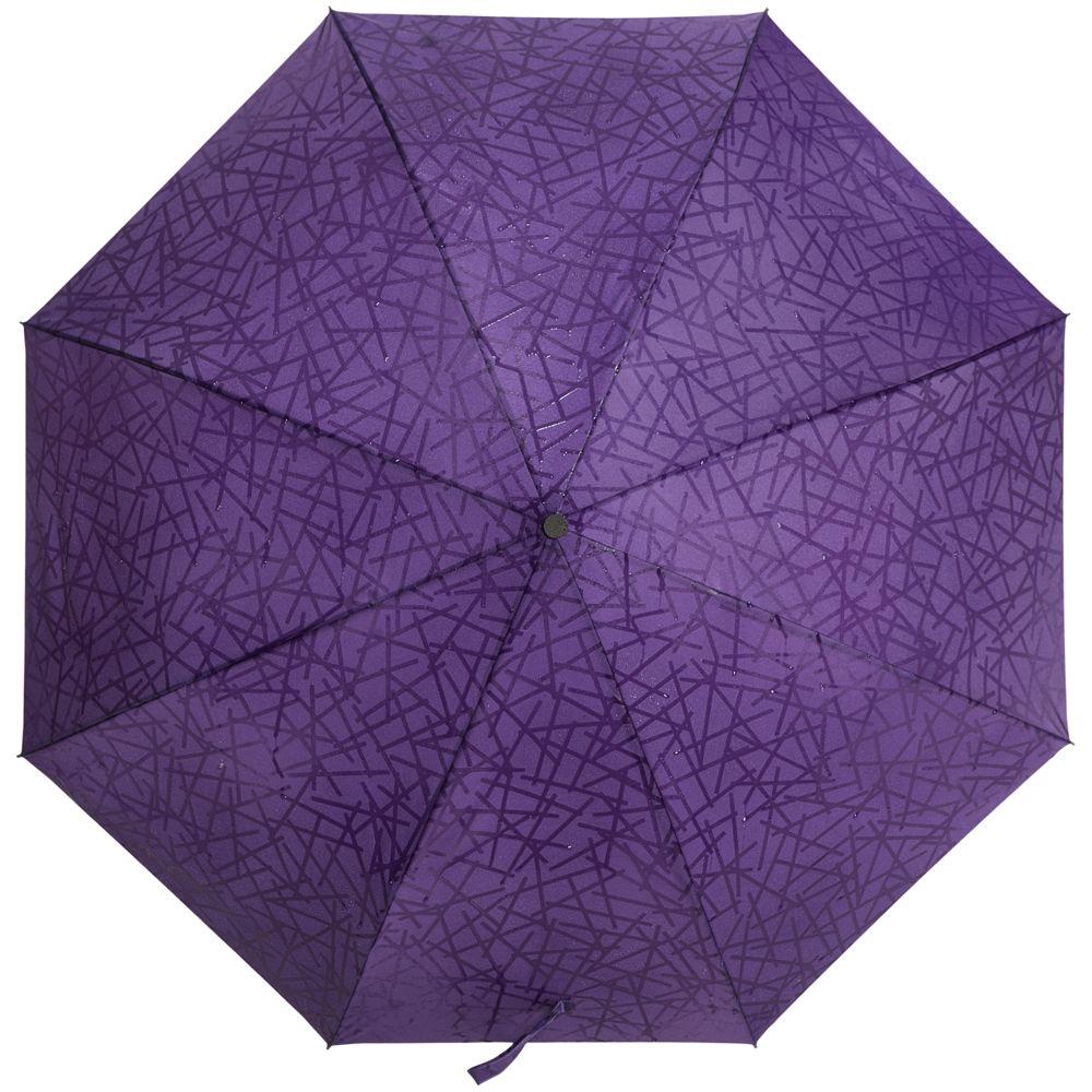 NoName / Складной зонт Magic с проявляющимся рисунком, фиолетовый