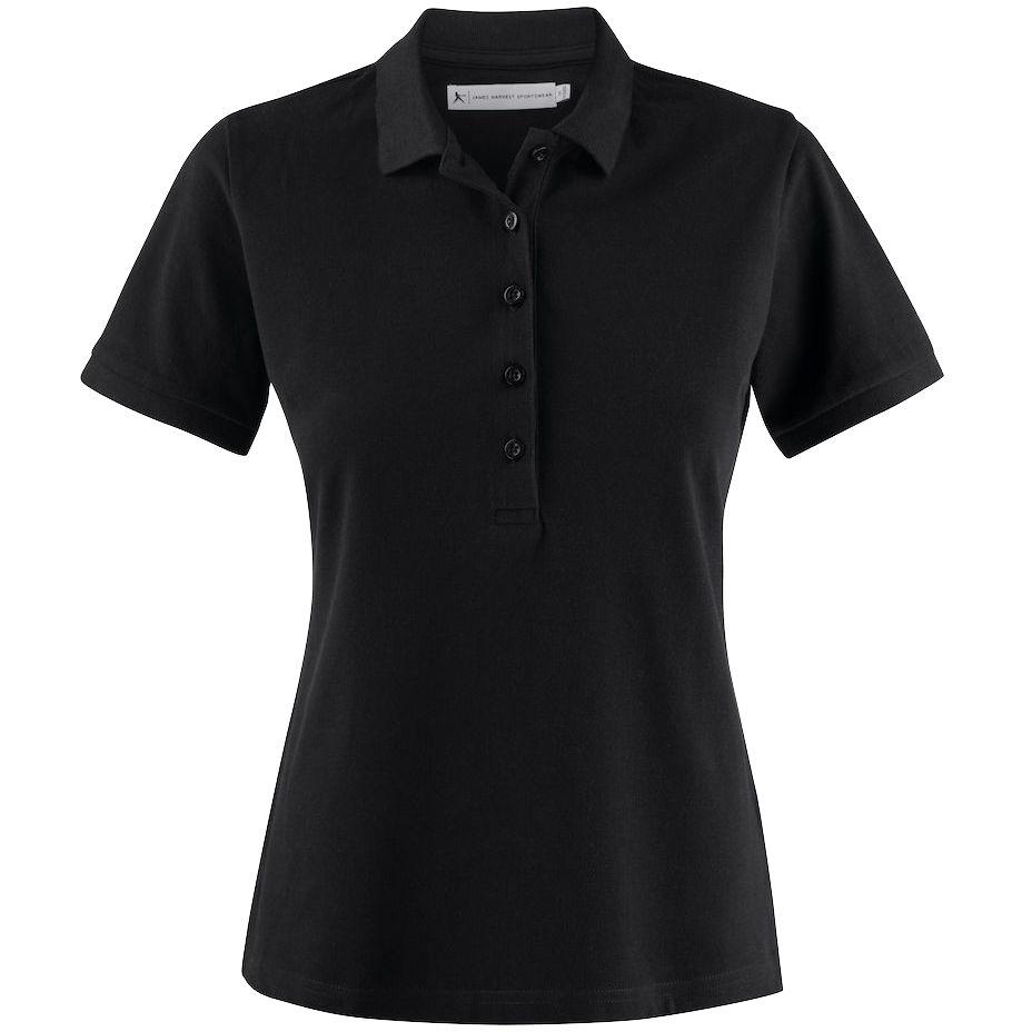 Рубашка поло женская Neptune черная, размер S