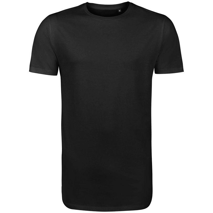 Футболка мужская удлиненная MAGNUM MEN черная, размер XS