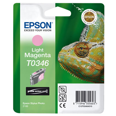 Фото - Картридж со светло-пурпурными чернилами Epson T0346 для SP2100 (C13T03464010) кордщетка dexx 35108 075 дисковая со шпилькой жгутированные пучки сталь0 5мм d75мм