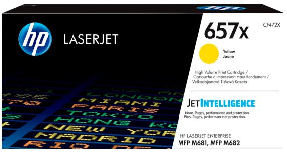 Фото - Картридж HP 657X LaserJet (CF472X) картридж hp 657x cf472x для hp color laserjet enterprise flow m681z m682z m681dh m681f желтый 23000стр