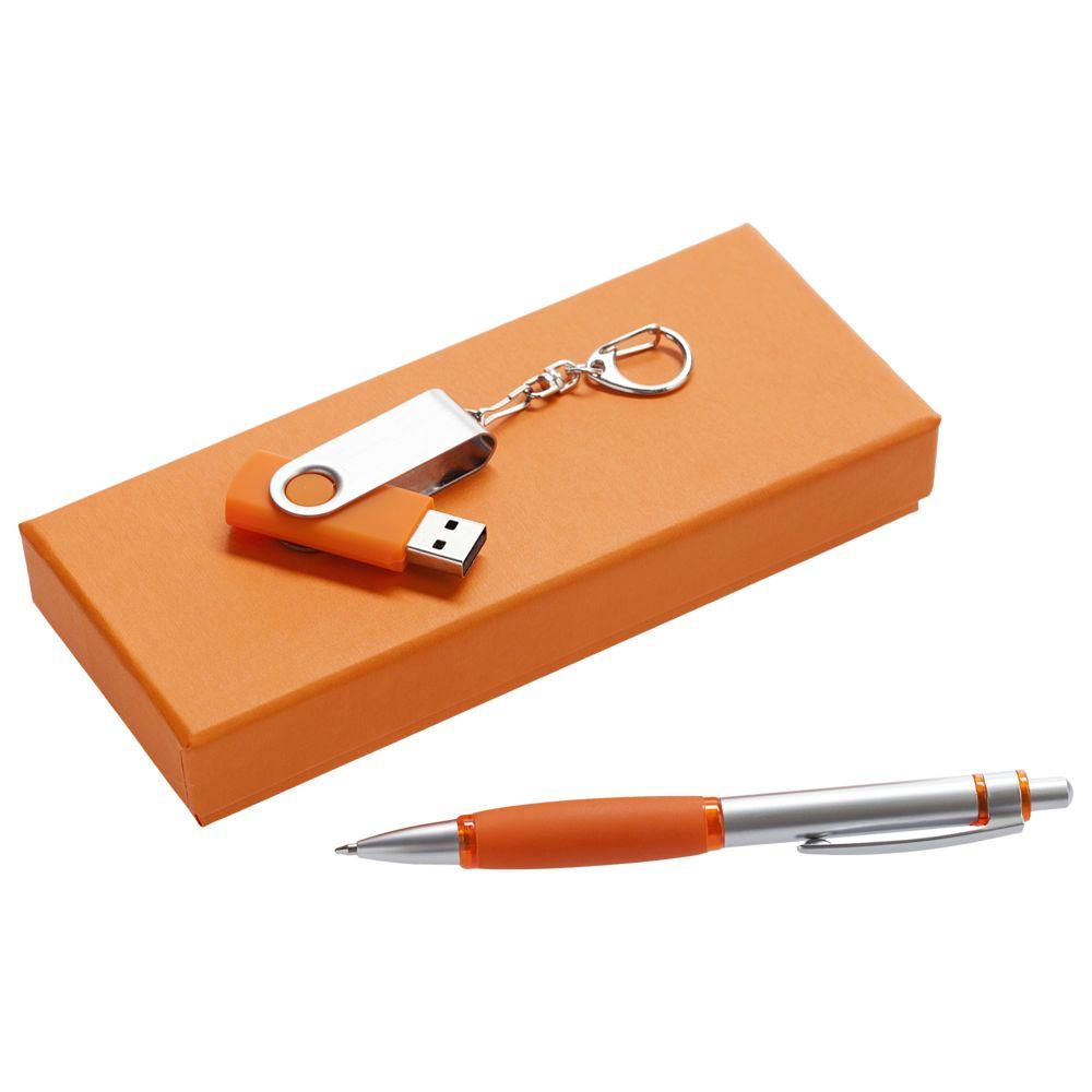 Набор Notes: ручка и флешка 8 Гб, оранжевый