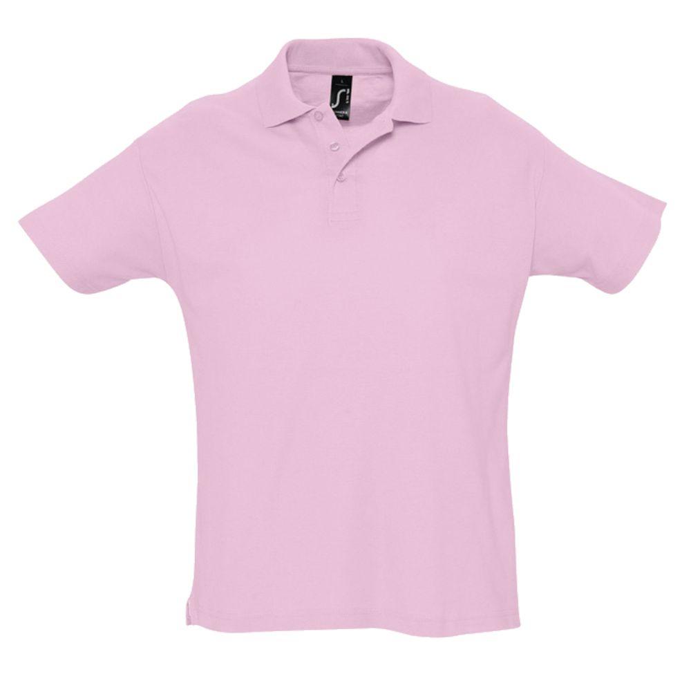 Рубашка поло мужская SUMMER 170 розовая, размер XXL фото
