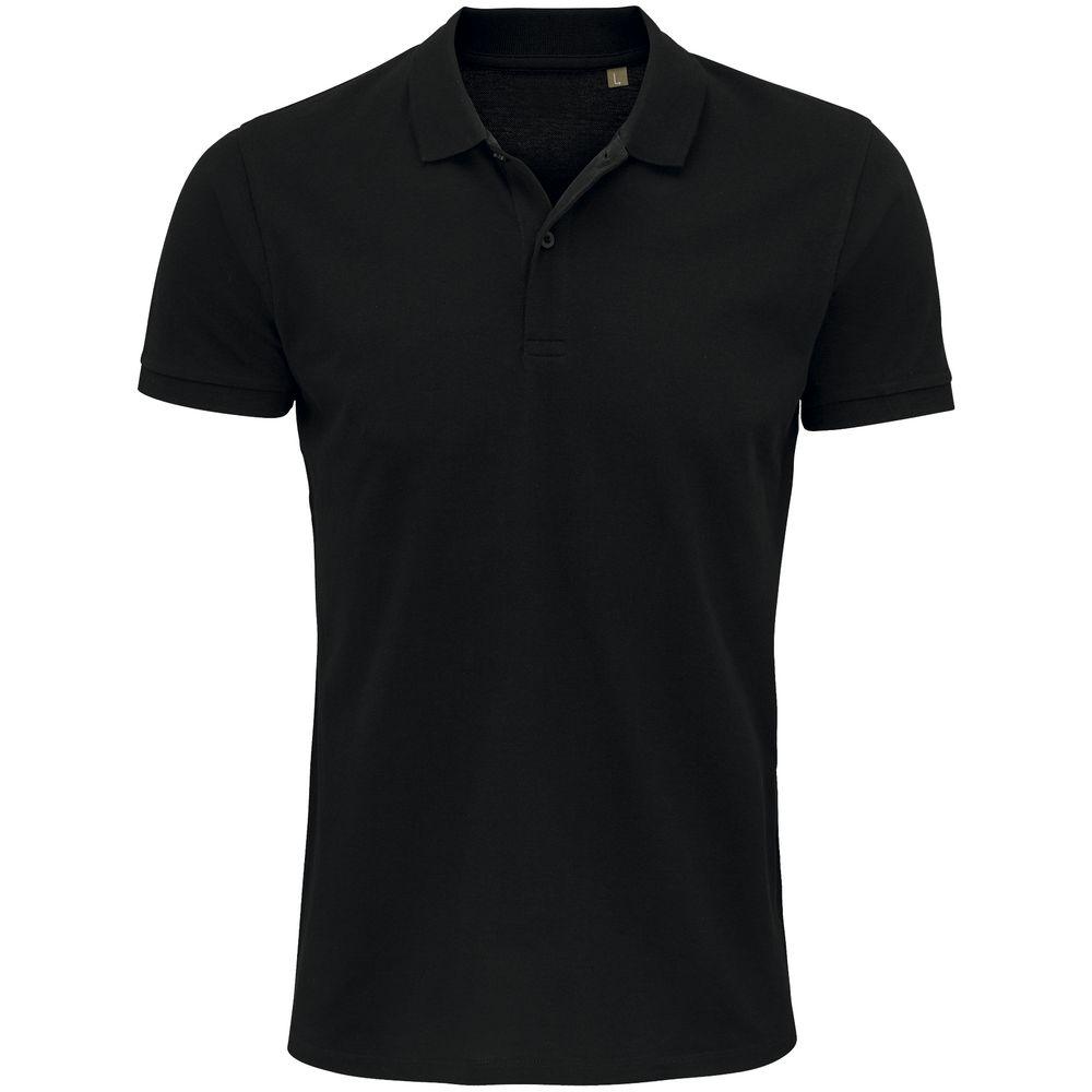 Рубашка поло мужская Planet Men, черная, размер 4XL