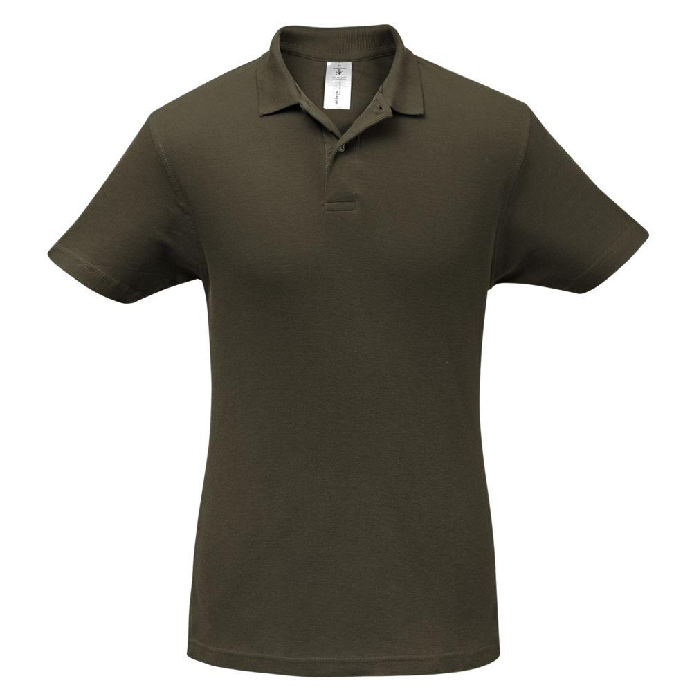 цена Рубашка поло ID.001 коричневая, размер XL онлайн в 2017 году