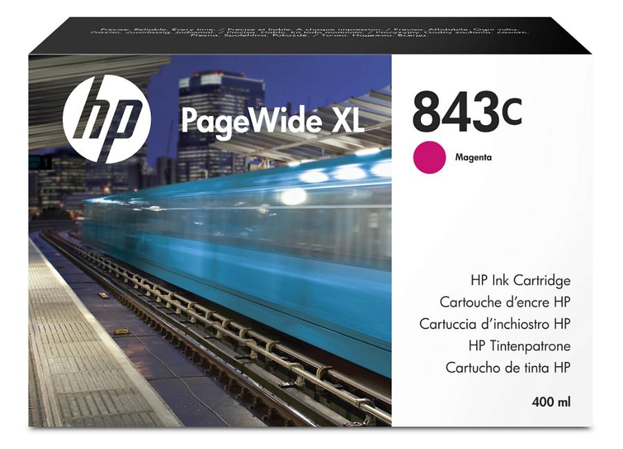 Фото - HP 843C PageWide XL пурпурный картридж обслуживания hp 841 pagewide xl f9j48a