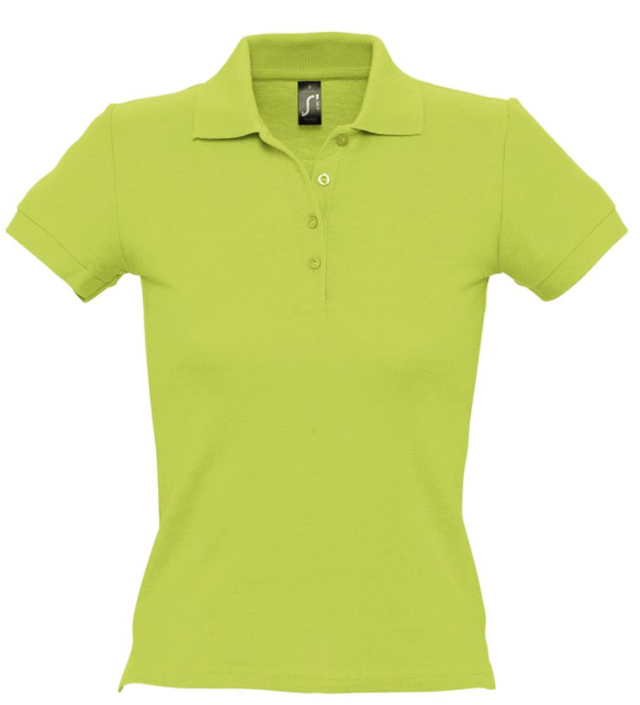 "Рубашка поло женская PEOPLE 210 ""зеленое яблоко"", размер S фото"