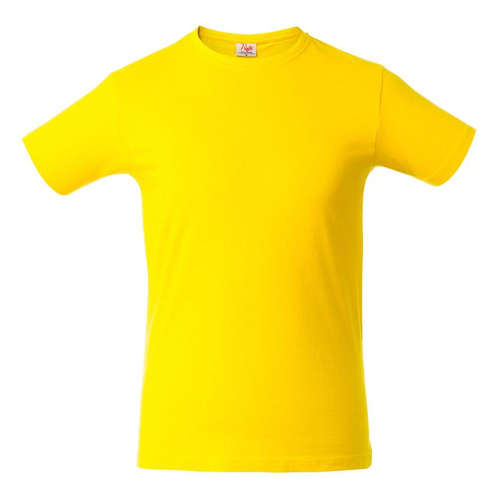 Футболка мужская HEAVY желтая, размер XXL