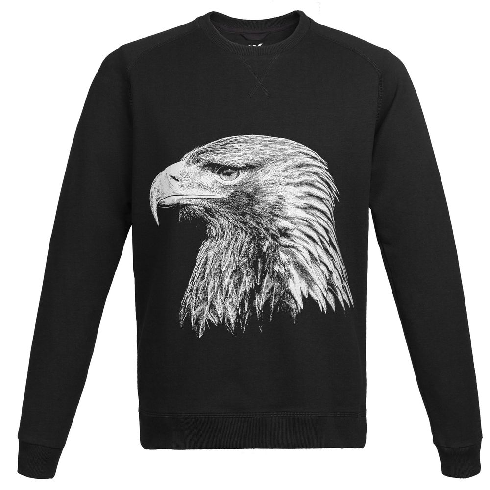 Свитшот мужской Like an Eagle, черный, размер S