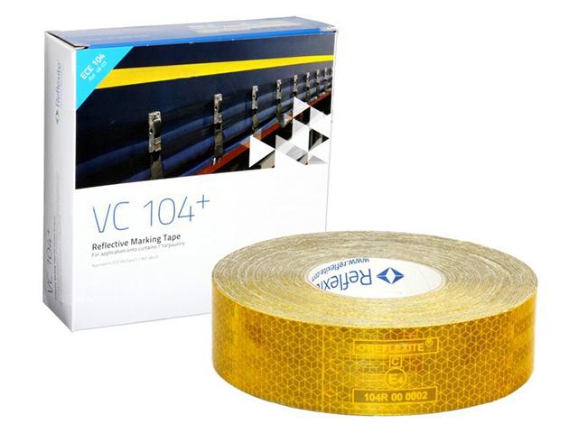 цена на Oralite/Reflexite VC104+ Curtain Grade для мягкого тента, желтая 0.05x50 м