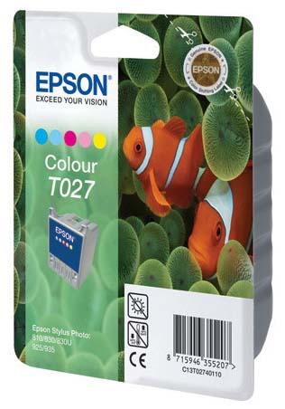 Фото - Цветной картридж Epson T027 для SP810 (C13T02740110) копилка котик цветной керамика 12х9 12 7365 13464 1