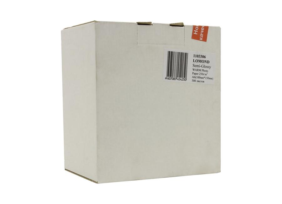 Фото - Lomond для струйной печати, A6, 250 г/м2, 500 листов, односторонняя, микропористая (1103306) lomond для струйной печати a2 100 г м2 25 листов двусторонняя матовая матовая 0102137