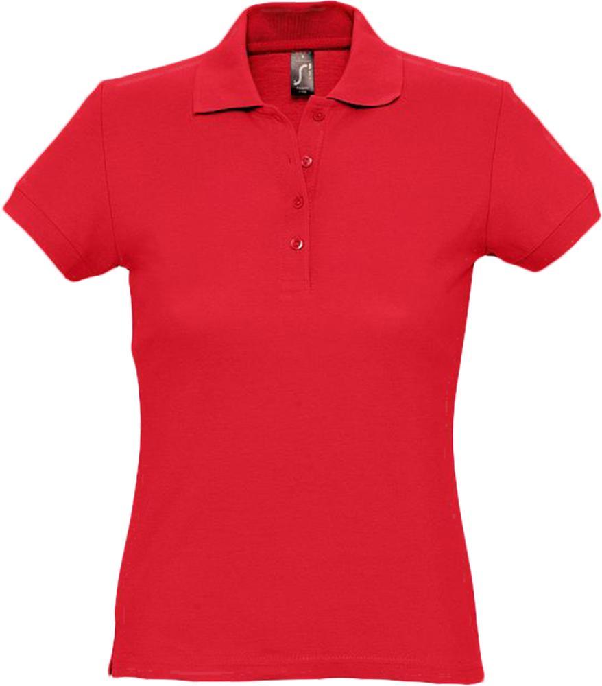 цена Рубашка поло женская PASSION 170 красная, размер XL онлайн в 2017 году
