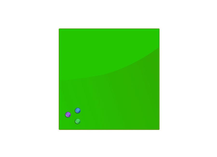 Стеклянная магнитно-маркерная доска Brauberg 45x45 см, зеленая, 3 магнита (236740) фото