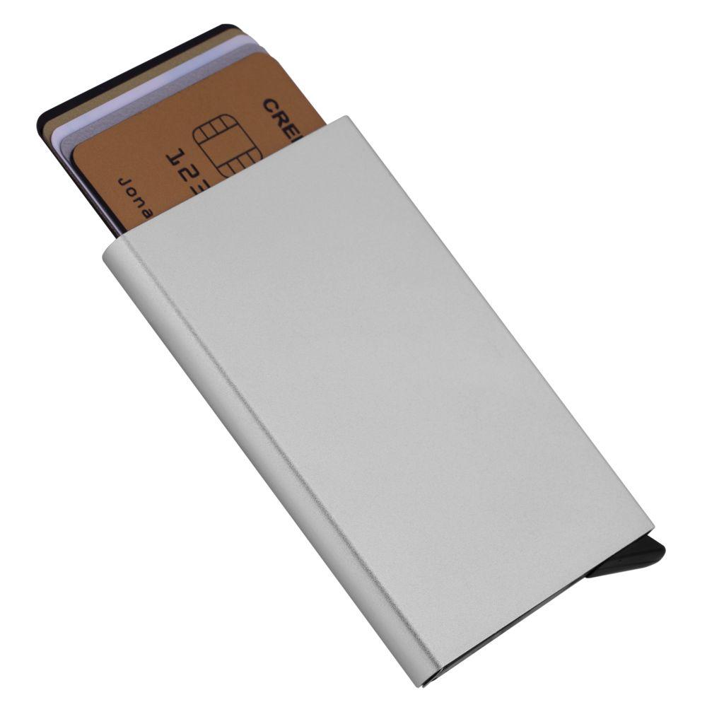 Футляр для кредитных карт Motion, серебристый недорого