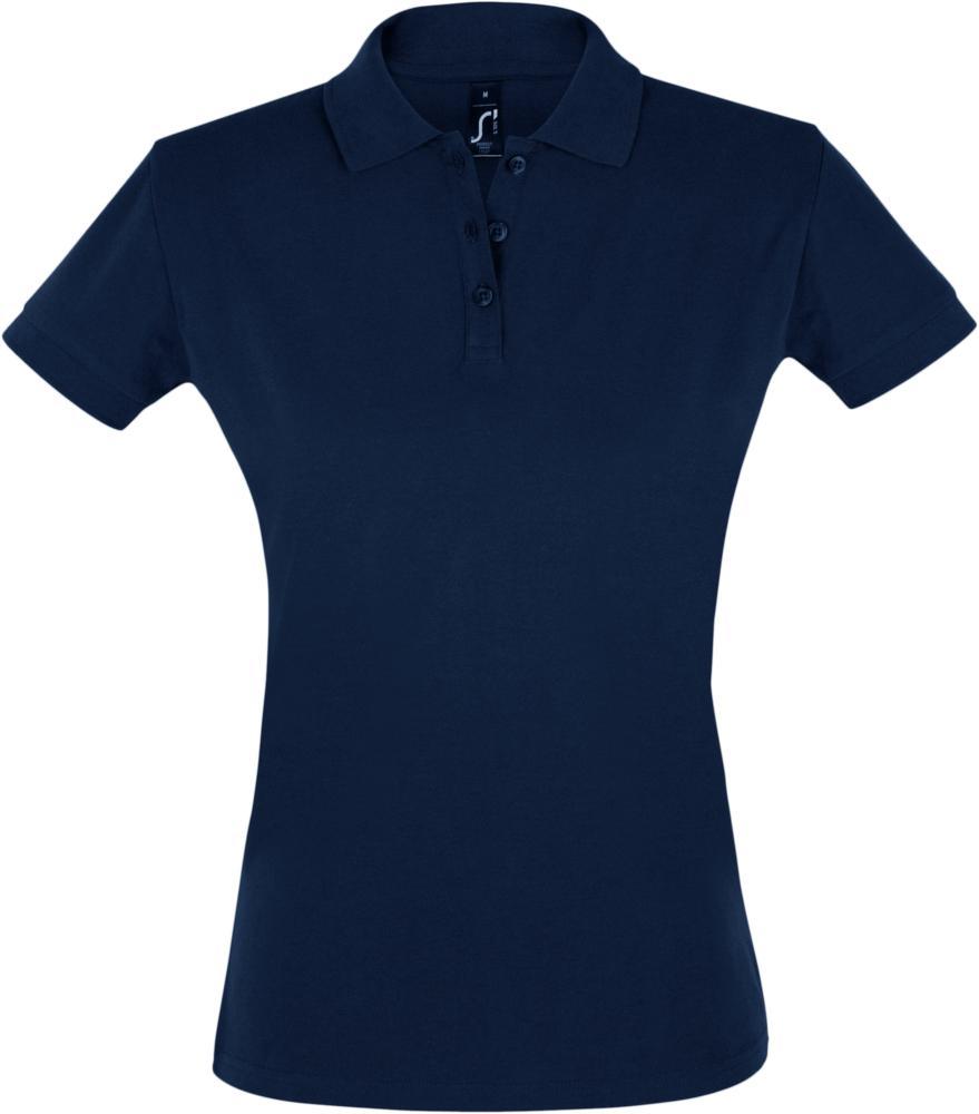Рубашка поло женская PERFECT WOMEN 180 темно-синяя, размер XL рубашка поло женская perfect women 180 серый меланж размер xl