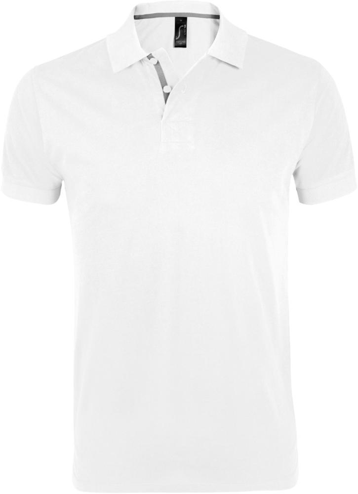 Рубашка поло мужская PORTLAND MEN 200 белая, размер M фото