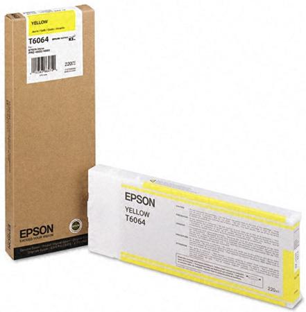 Epson T6064 Yellow 220 мл (C13T606400) epson t5804 yellow 80 мл c13t580400