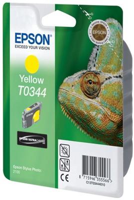 Фото - Картридж с желтыми чернилами Epson T0344 для SP2100 (C13T03444010) картридж с желтыми чернилами epson t0824 c13t11244a10