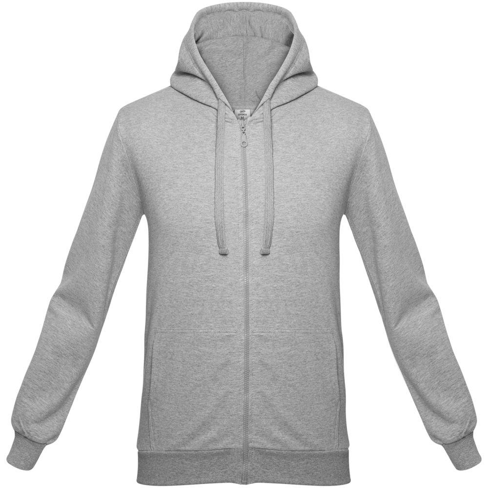 цена Толстовка на молнии с капюшоном Unit Siverga серый меланж, размер 4XL онлайн в 2017 году