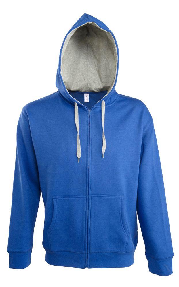 Толстовка мужская Soul men 290 с контрастным капюшоном, ярко-синяя, размер 3XL толстовка stan ярко синяя размер 3xl