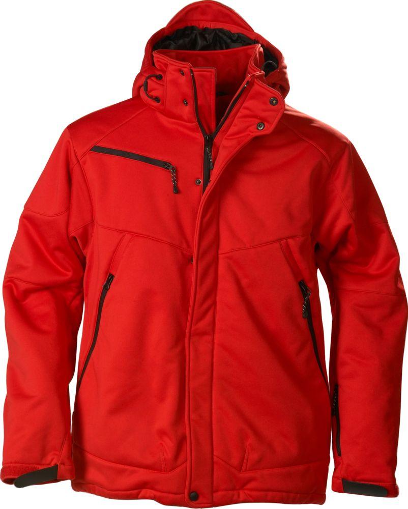 Куртка софтшелл мужская Skeleton красная, размер XXL