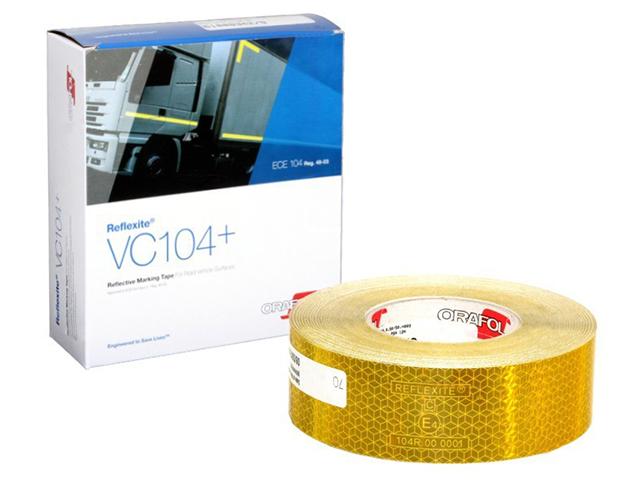 Oralite/Reflexite VC104+ Rigid Grade для жесткого борта, желтая 0.05x50 м