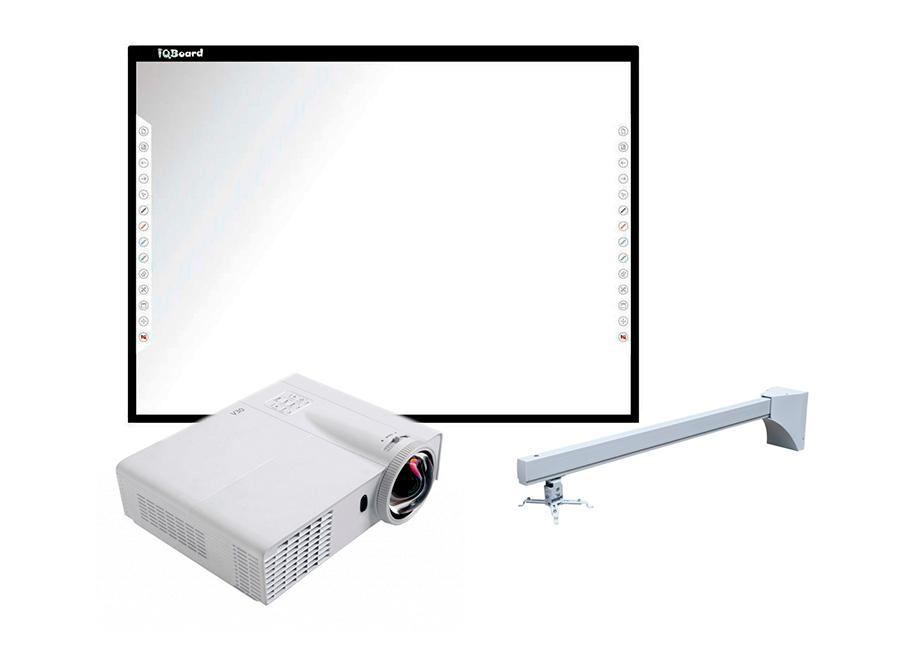 Интерактивный комплект IQBoard DVT T087+Infocus INV30+Wize WTH140 (4 места)
