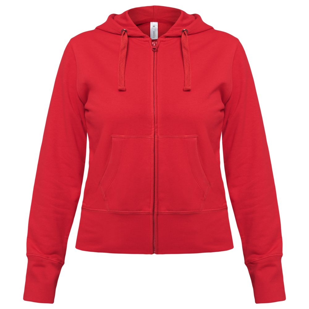 Толстовка женская Hooded Full Zip красная, размер L