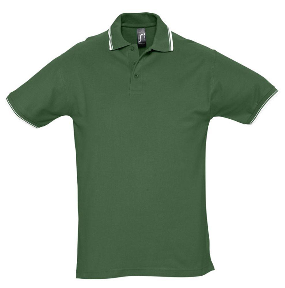 цена Рубашка поло мужская с контрастной отделкой PRACTICE 270, зеленый/белый, размер XXL онлайн в 2017 году